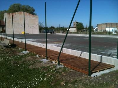 Construction des terrains de Beach Tennis