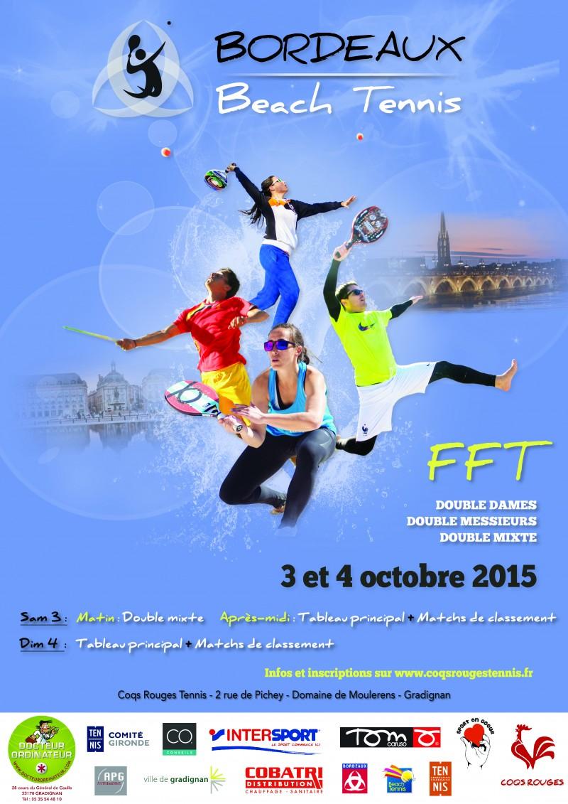 Tournoi Beach Tennis FFT Octobre 2015