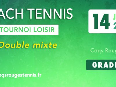 Tournoi loisir beach tennis
