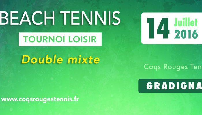 Tournoi loisir beach tennis