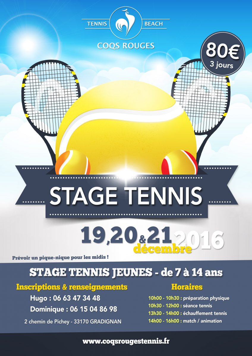 Affiche stage tennis hiver 2016