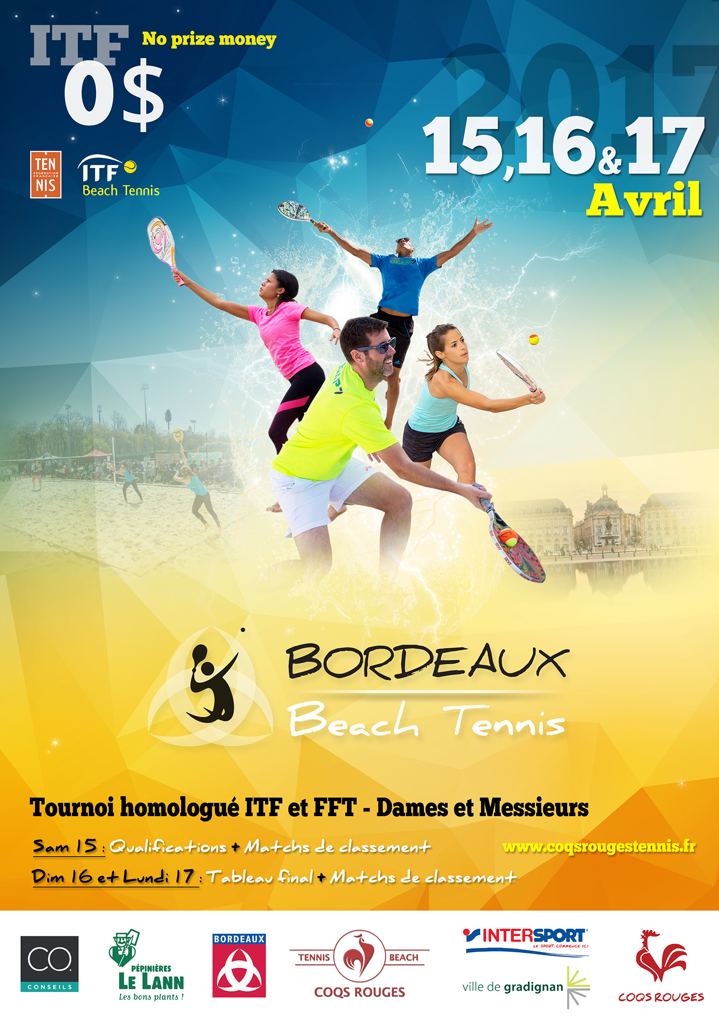 Inscription tournoi ITF 2016